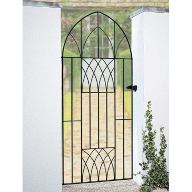 Click to view product details and reviews for Burbage Iron Craft Abbey Tall Bow Top Single Gate.