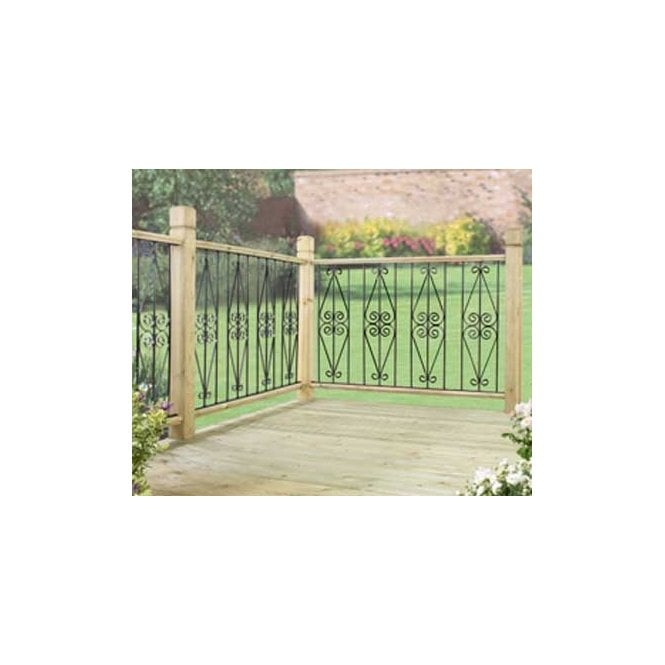 Click to view product details and reviews for Burbage Iron Craft Ascot Deck Panel Pack Of 2.