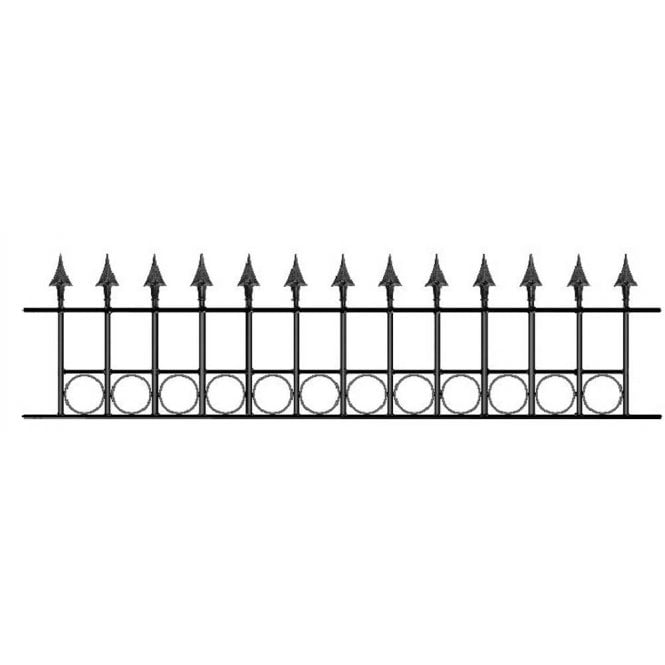 Click to view product details and reviews for Burbage Iron Craft Balmoral Ring Railing Panel.