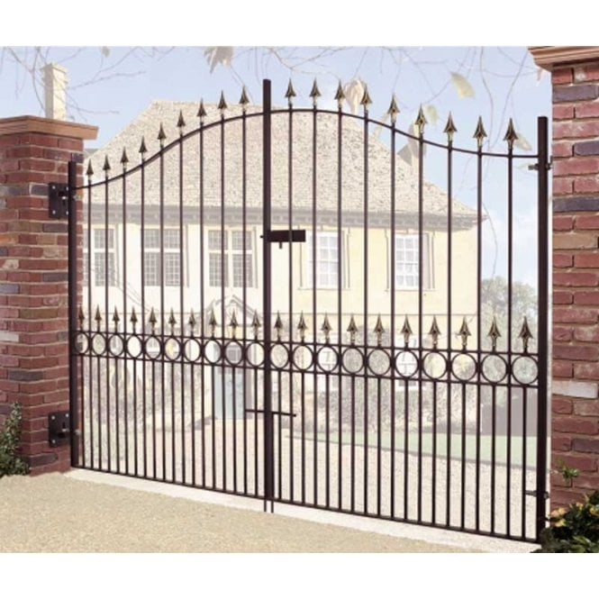 Burbage Iron Craft Balmoral Tall Bow Top Double Gate