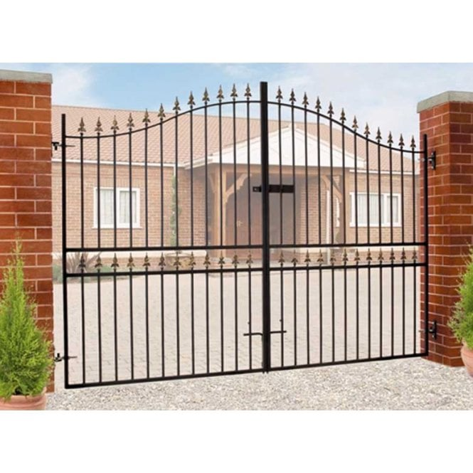 Click to view product details and reviews for Burbage Iron Craft Corfe Tall Bow Double Estate Gate.