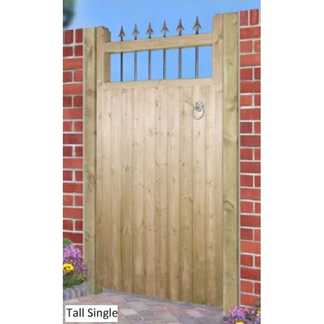 Click to view product details and reviews for Burbage Iron Craft Hampton Tall Single Garden Gate.
