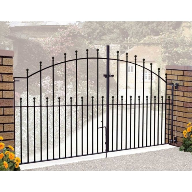 Click to view product details and reviews for Burbage Iron Craft Manor Arched Double Gates.