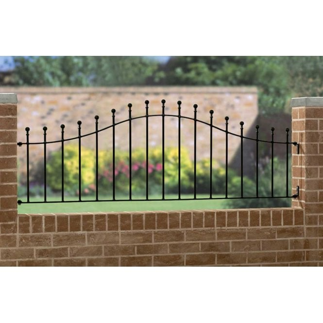 Burbage Iron Craft Manor Arched Railing Panel