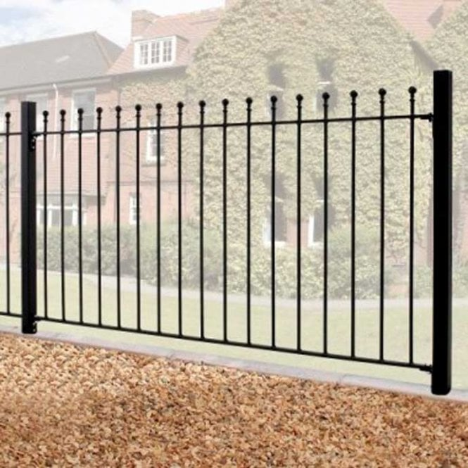 Click to view product details and reviews for Burbage Iron Craft Manor Fence Panel.