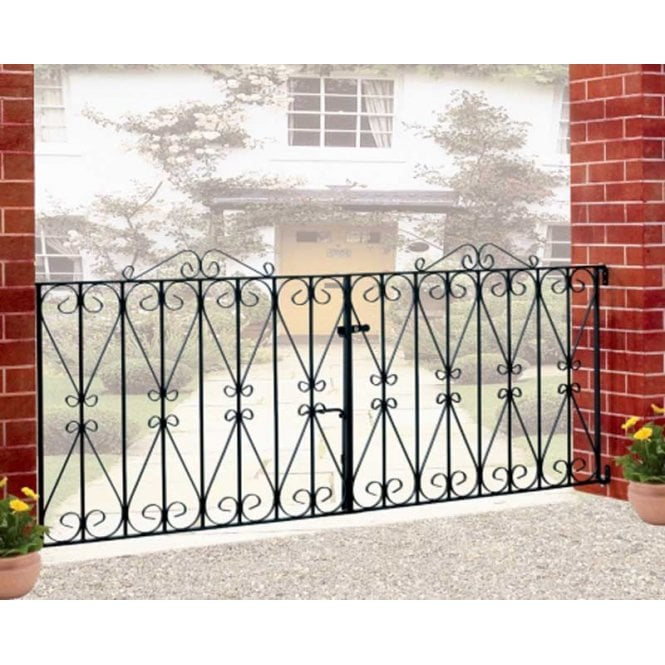 Click to view product details and reviews for Burbage Iron Craft Regent Double Driveway Gate.