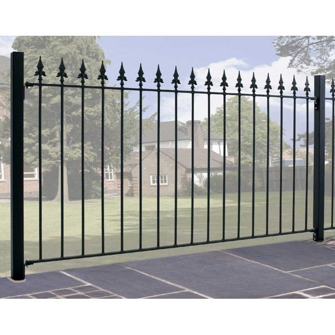 Click to view product details and reviews for Burbage Iron Craft Saxon Fence Panel.