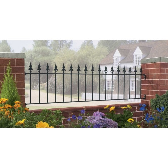 Click to view product details and reviews for Burbage Iron Craft Saxon Railing Panel.