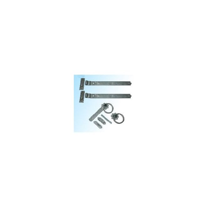 """Click to view product details and reviews for Burbage Iron Craft Single Gate 18"""" Hook And Band Hinge – Latch Fitting."""