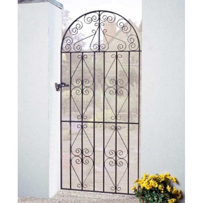 Burbage Iron Craft Stirling Tall Bow Top Single Gate