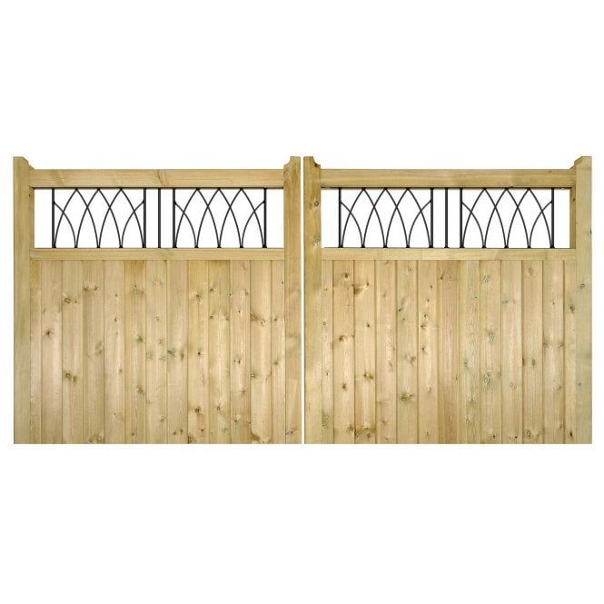 Click to view product details and reviews for Burbage Iron Craft Windsor Double Driveway Garden Gate.