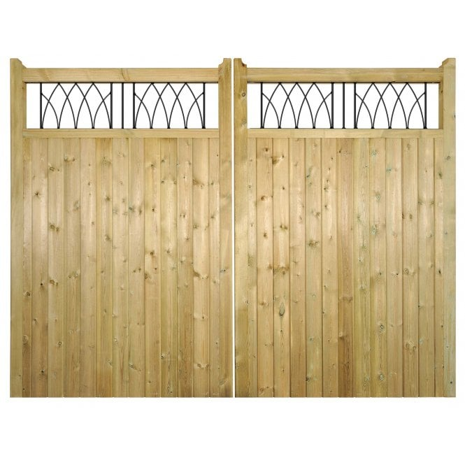 Burbage Iron Craft Windsor Tall Double Driveway Garden Gate