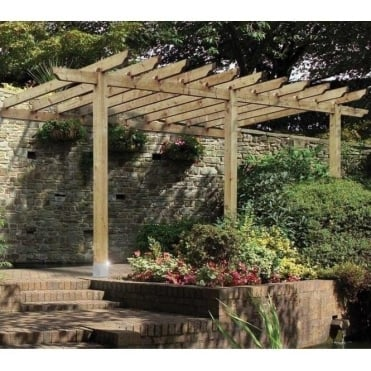 Burleston Lean-to Carport Pergola
