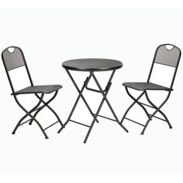 Cafe Espresso Folding Mesh Bistro Set