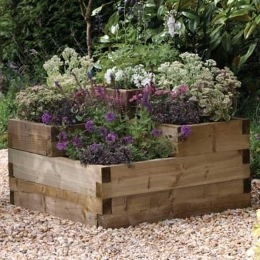 Caledonian Tiered Raised Bed Planter 0.9m x 0.9m