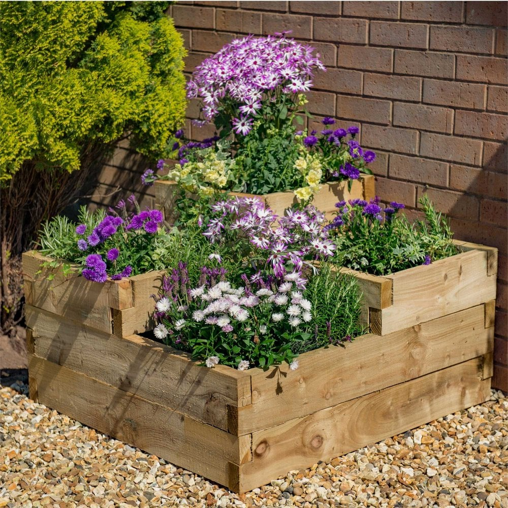 Forest Garden Caledonian Tiered Raised Plant Bed Pressure