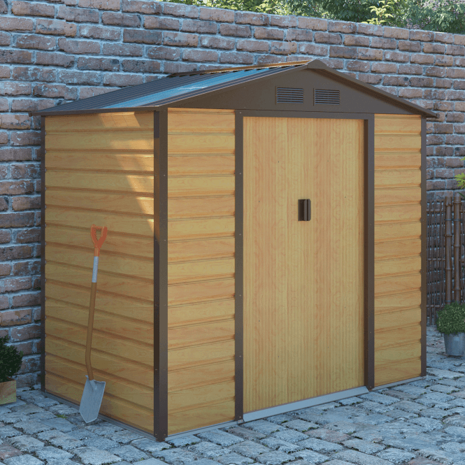 Click to view product details and reviews for Cambridge 1 Oak Metal Shed 7 X 4.