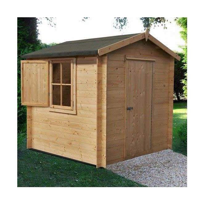 Click to view product details and reviews for Camelot Log Cabin 8 X 8.