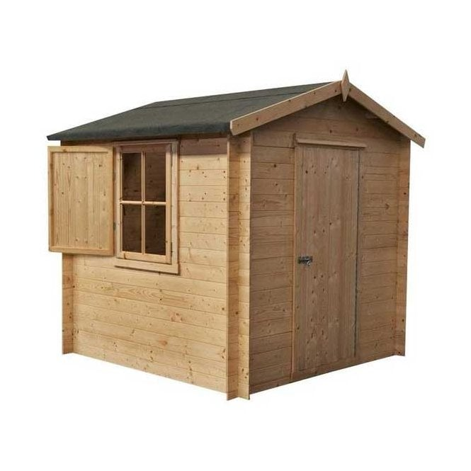 Click to view product details and reviews for Camelot Log Cabin 9 X 9.