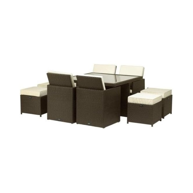 Cannes 4/8 Person Cube Set Rattan