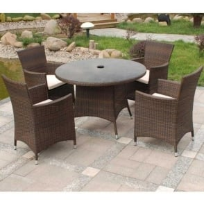 Cannes 4 Person Round Dining Set