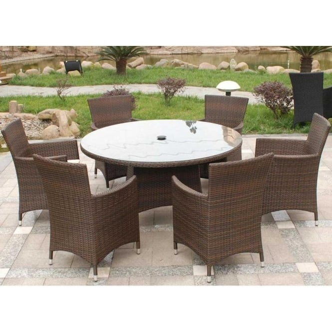 Cannes 6 Person Round Dining Set