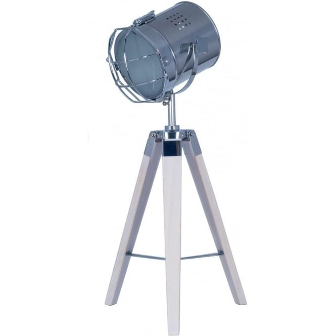 Capstan Divers Style Tripod White Washed Table Lamp 67cm