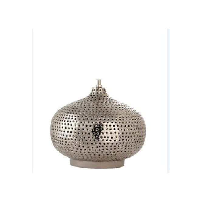 Click to view product details and reviews for Casablanca Punched Metal Oval Table Lamp Base 38cm.