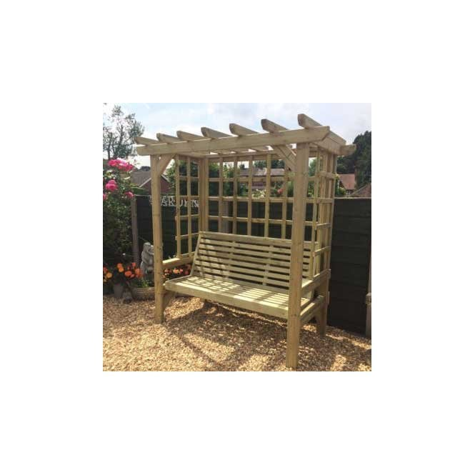 Click to view product details and reviews for Churnet Valley Beatrice Three Seat Arbour.