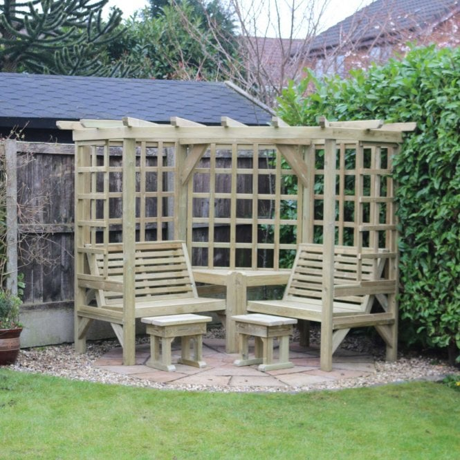 Click to view product details and reviews for Churnet Valley Clementine Corner Arbour.