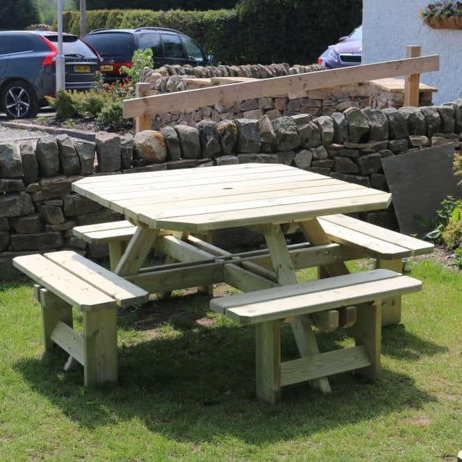 Click to view product details and reviews for Churnet Valley Westwood Square Picnic Table.