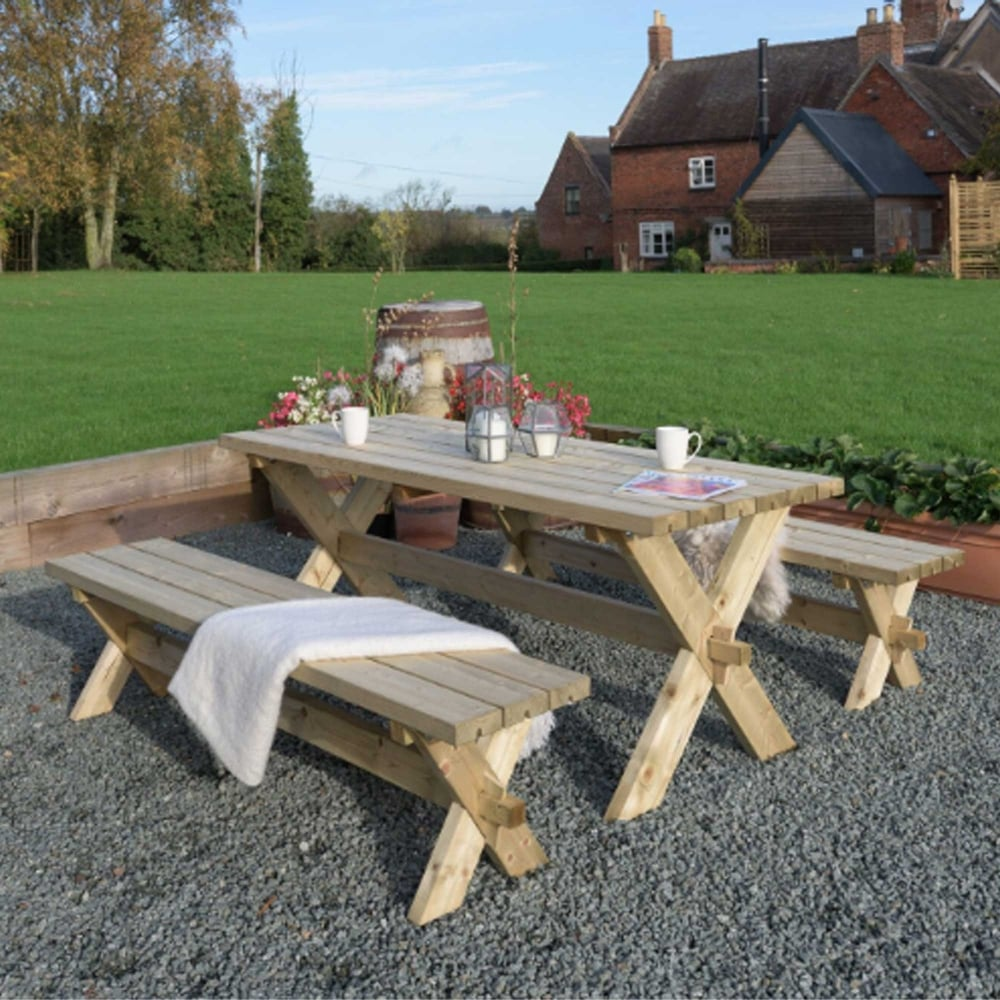 Enjoyable Classic Garden Table And Bench Set Caraccident5 Cool Chair Designs And Ideas Caraccident5Info