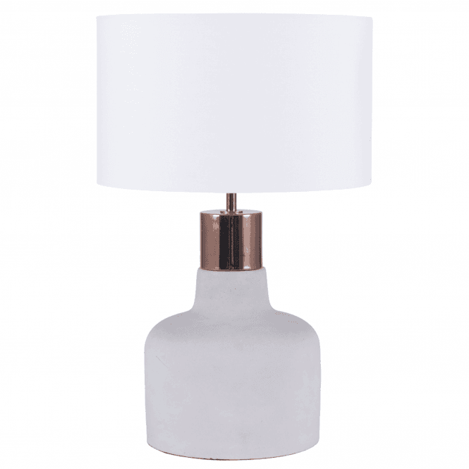 Concrete And Copper Detail Table Lamp