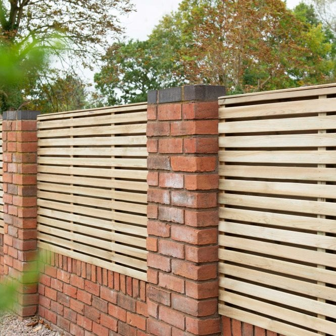 Click to view product details and reviews for Contemporary Double Slatted Fence Panel 18m X 12m.