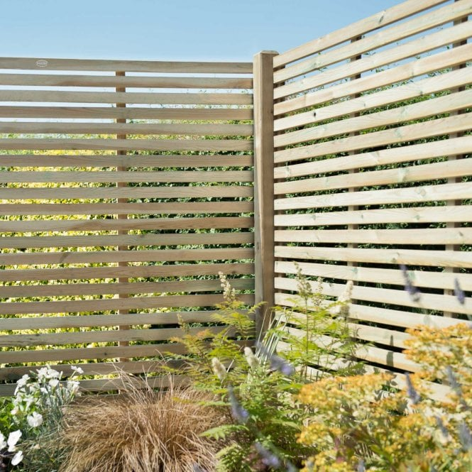 Click to view product details and reviews for Contemporary Slatted Fence Panel 18m X 18m.