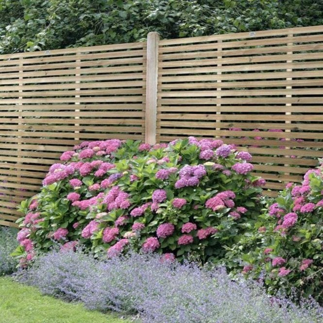Contemporary Slatted Fence Panel 6 X 6