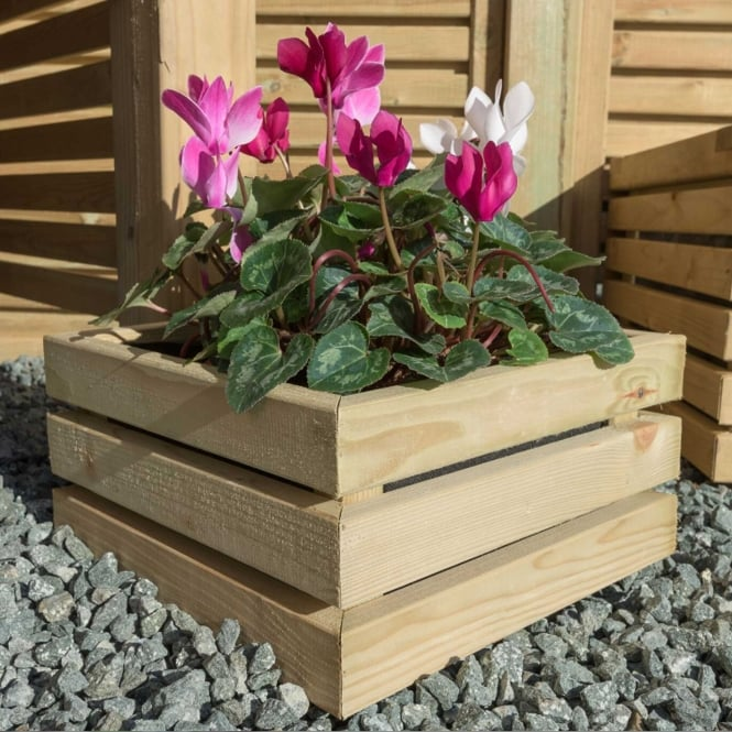 Click to view product details and reviews for Contemporary Small Square Planter.
