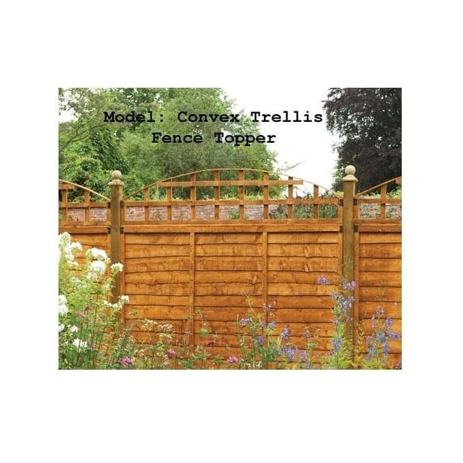 Click to view product details and reviews for Convex Trellis Fence Topper.