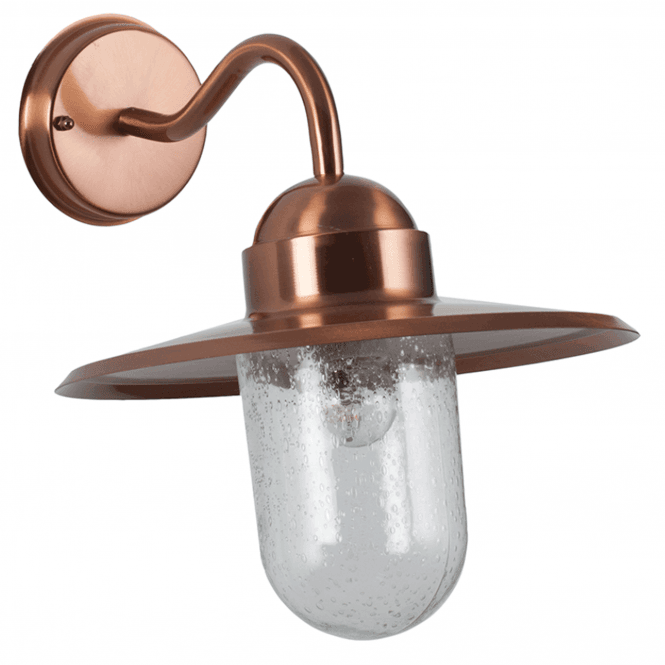 Copper Fisherman Outdoor Wall Light