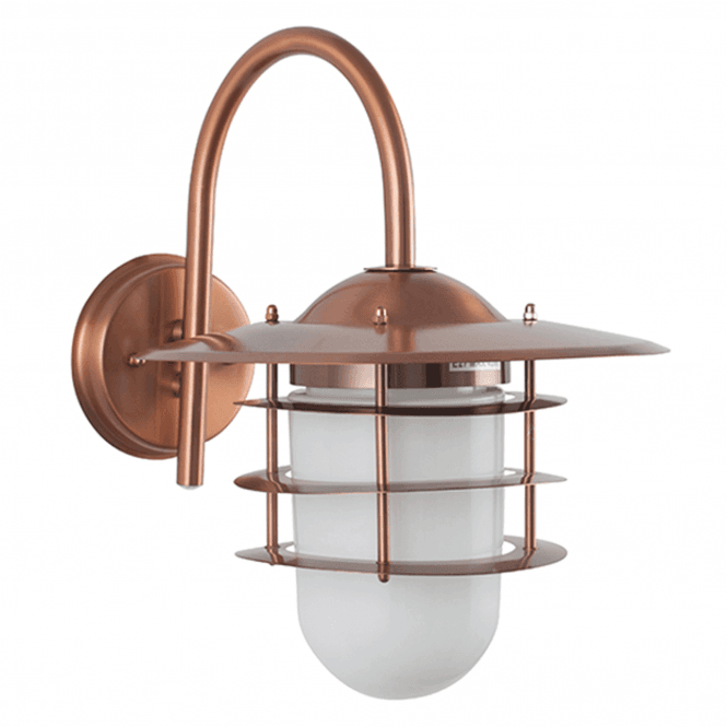 Click to view product details and reviews for Copper Metal And Opaque Glass Wall Light.
