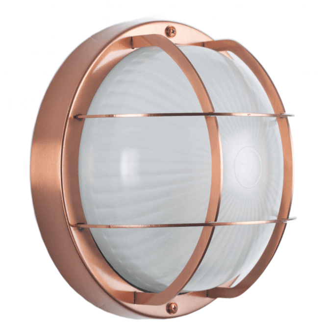 Click to view product details and reviews for Copper Outdoor Bulk Head Wall Light.
