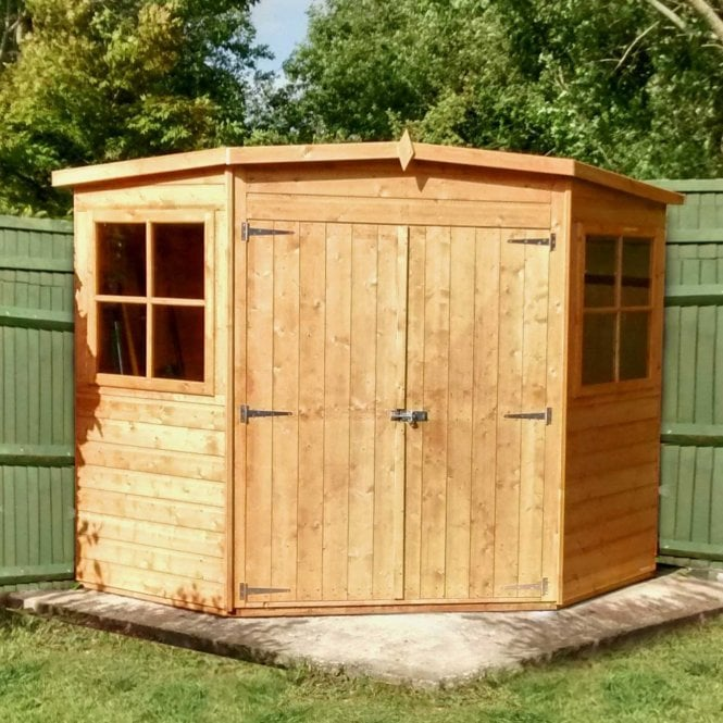 Click to view product details and reviews for Corner 8 X 8 Shiplap Shed.