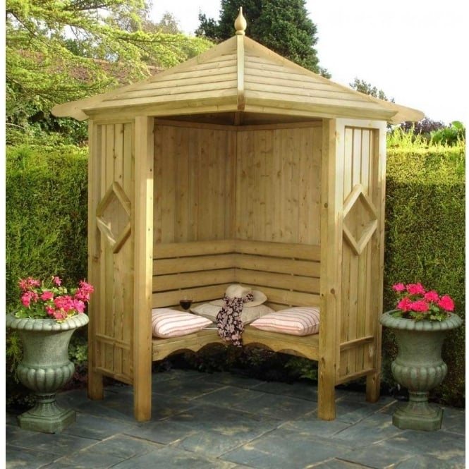 Corner Arbour With Full Internal Bench Style Seat