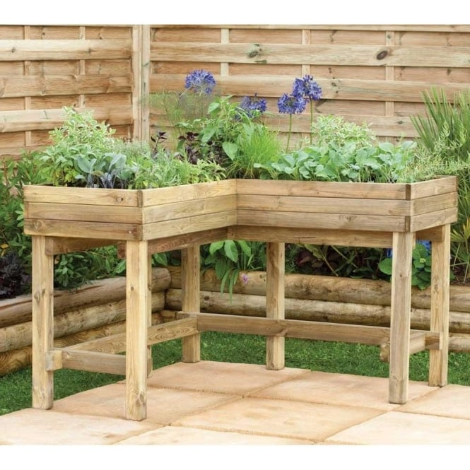 Click to view product details and reviews for Corner Table Planter.