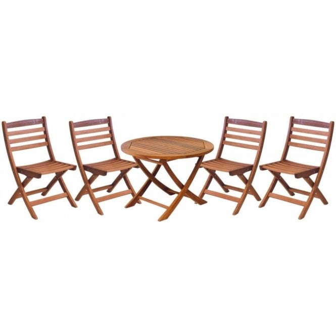 Cornis Children's Outdoor Table and Chairs Set - 4 Seater