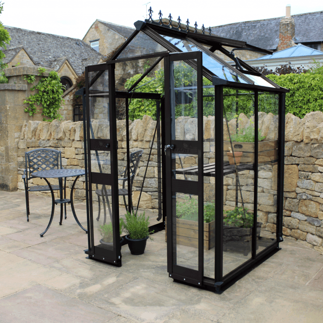 Click to view product details and reviews for Cotswold Birdlip 4 X 4 Greenhouse Black.