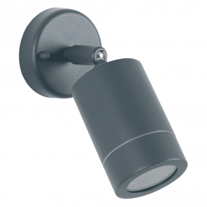 Click to view product details and reviews for Dark Grey Adjustable Outdoor Spot Wall Light.