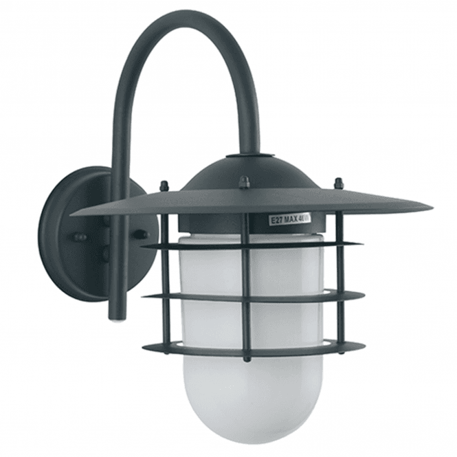 Click to view product details and reviews for Dark Grey Metal And Opaque Glass Wall Light.
