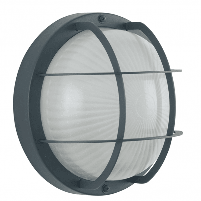 Click to view product details and reviews for Dark Grey Outdoor Bulk Head Wall Light.