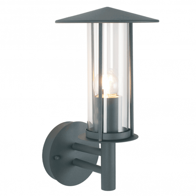 Dark Grey Outdoor Chimney Wall Light